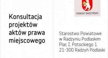 Konsultacja uchwały zmieniającej roczny program współpracy Powiatu Radzyńskiego z NGO