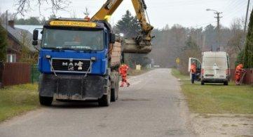 Rozpoczęcie prac na drodze w Brzozowicy Dużej