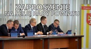 Zaproszenie na XXIV sesję Rady Powiatu - 29.09.2020