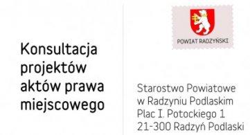 """Konsultacja projektu """"Rocznego programu współpracy Powiatu Radzyńskiego z NGO na 2022 r."""""""