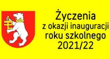 Życzenia z okazji inauguracji roku szkolnego 2021/2022
