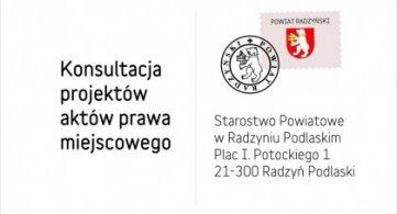 Ogłoszenie o przeprowadzeniu konsultacji społecznych projektu Strategii Rozwoju Ponadlokalnego Gmin i Powiatu Radzyńskiego