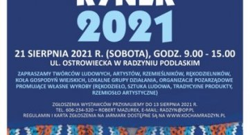 """Zapraszamy na II Radzyński Jarmark Sztuki i Rękodzieła """"Kozirynek 2021"""""""